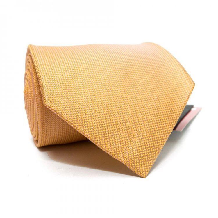 Краватка Чоловічий Жовто-Оранжевий В Дрібні Ромбики Gin-2493