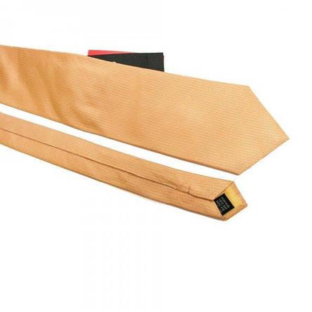 Краватка Чоловічий Жовто-Оранжевий В Дрібні Ромбики Gin-2493, фото 2