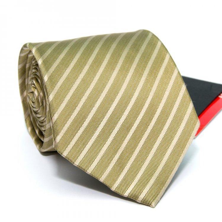 Краватка Чоловічий Оливковий В Смужки Gin-2579