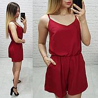 Комбинезон женский, модель 102/1, цвет - красный