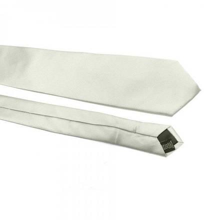 Краватка Чоловічий Сірий Однотонний Gin-2462, фото 2