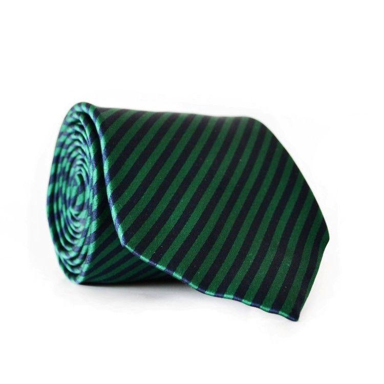 Краватка Чоловічий Синьо-Зелений В Смужку Gin-2010