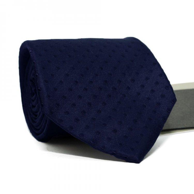 Краватка Чоловічий Темно-Синій В Точки Gin-2003