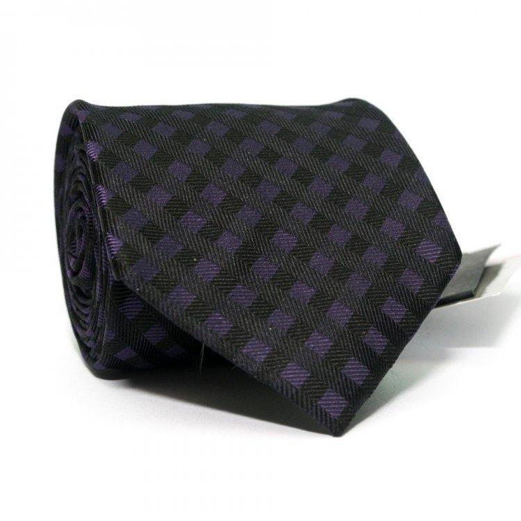 Краватка Чоловічий Фіолетово-Чорний У Клітку Gin-2354