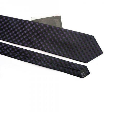 Краватка Чоловічий Фіолетово-Чорний У Клітку Gin-2354, фото 2