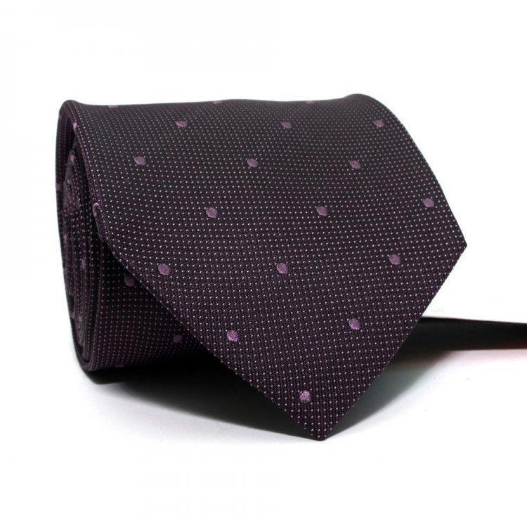 Галстук Мужской Фиолетовый В Точки Gin-2473
