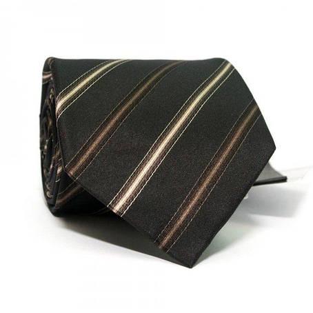 Краватка Чоловічий Чорний В Коричневі Смужки Gin-2388, фото 2