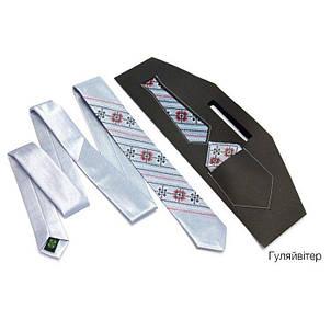 Краватка Вузький З Вишивкою Білий Jj-0003, фото 2