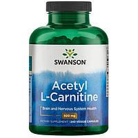 Ацетил L-Карнитин Swanson Acetyl L-Carnitine 500mg 100капс