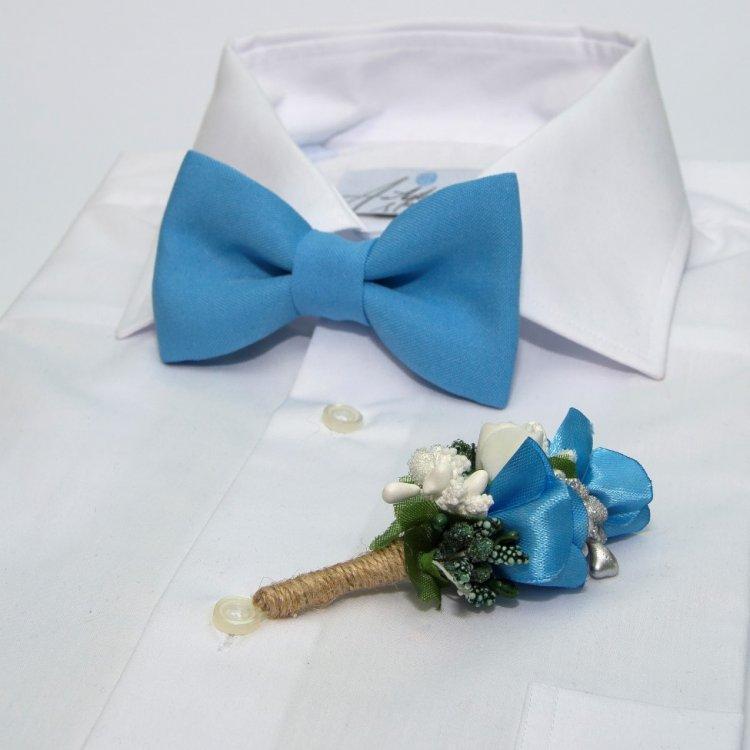 Блакитний Набір 2 В 1 Метелик І Бутоньєрка Gfo-16010