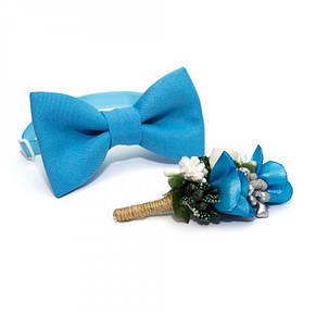 Блакитний Набір 2 В 1 Метелик І Бутоньєрка Gfo-16010, фото 2