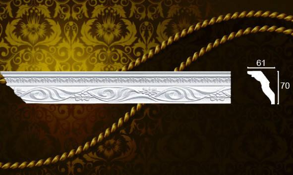Плинтус потолочный Формат 09007KD 61*70мм 2м