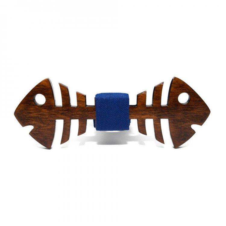 Деревянная Бабочка Рыба Темная Gbdh-8254