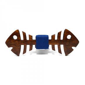 Деревянная Бабочка Рыба Темная Gbdh-8254, фото 2