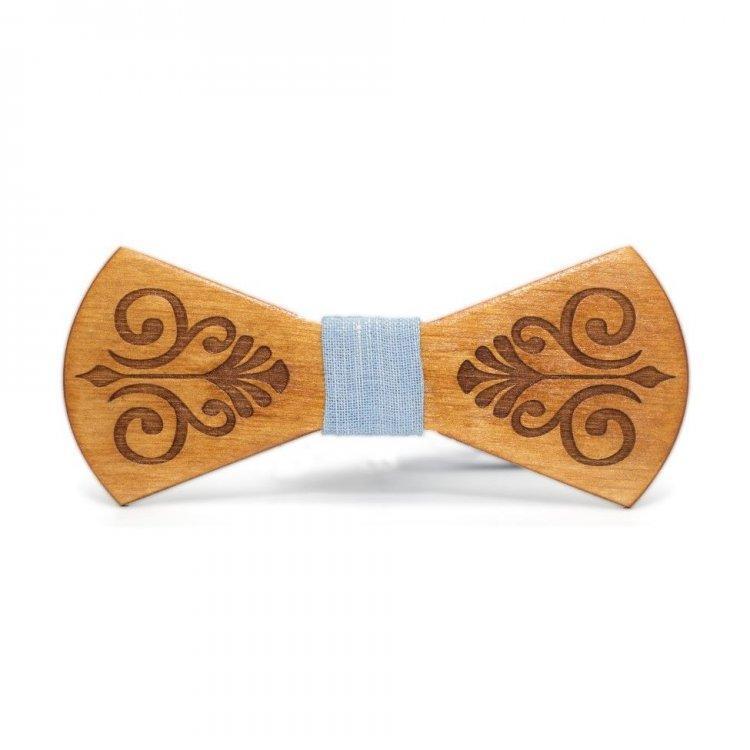Дерев'яна Краватка Метелик З Гравіюванням Gbdh-8125