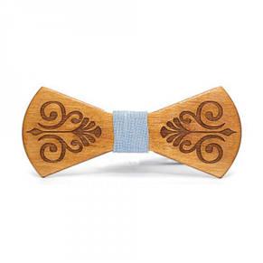 Дерев'яна Краватка Метелик З Гравіюванням Gbdh-8125, фото 2