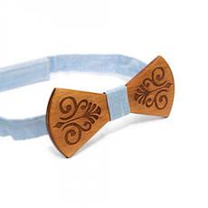 Дерев'яна Краватка Метелик З Гравіюванням Gbdh-8125, фото 3