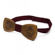Дерев'яна Краватка Метелик З Гравіюванням Якоря Gbdh-8211, фото 3