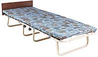 Ортопедическая раскладушка-кровать Эрвин Richman с синим матрасом, ламели и быльце