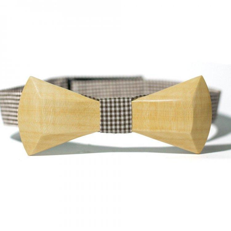 Дерев'яна Краватка Метелик З Закругленими Кутами Gbdh-8028