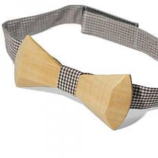 Дерев'яна Краватка Метелик З Закругленими Кутами Gbdh-8028, фото 2