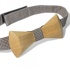 Дерев'яна Краватка Метелик З Закругленими Кутами Gbdh-8028, фото 3