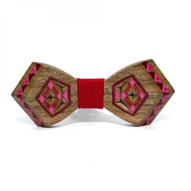 Дерев'яна Краватка Метелик З Малюнком Вишивки Gbdh-8334