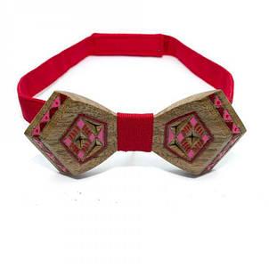 Дерев'яна Краватка Метелик З Малюнком Вишивки Gbdh-8334, фото 2