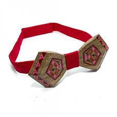 Дерев'яна Краватка Метелик З Малюнком Вишивки Gbdh-8334, фото 3