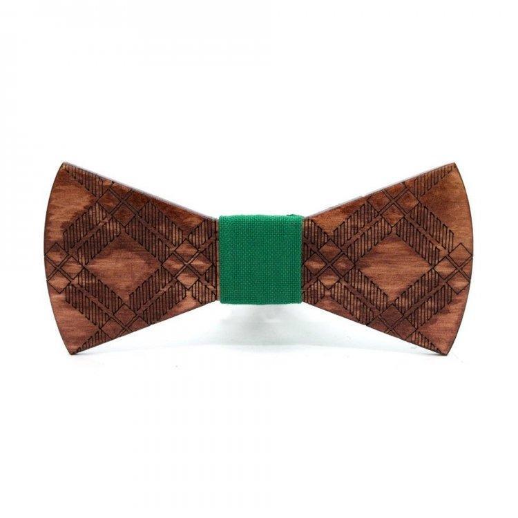 Дерев'яна Краватка Метелик З Візерунком Gbdh-8189
