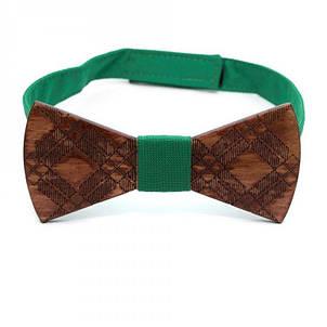 Дерев'яна Краватка Метелик З Візерунком Gbdh-8189, фото 2