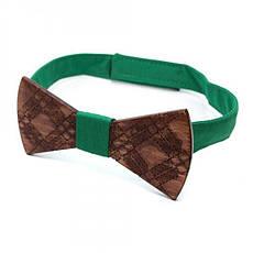 Дерев'яна Краватка Метелик З Візерунком Gbdh-8189, фото 3
