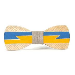 Деревянная Галстук Бабочка Флаг Украины Gbdh-8066, фото 2