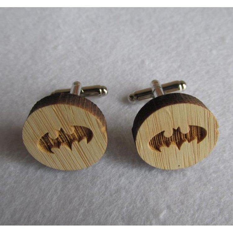 Деревянные Запонки Бэтмен Dzp-0678