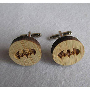 Деревянные Запонки Бэтмен Dzp-0678, фото 2
