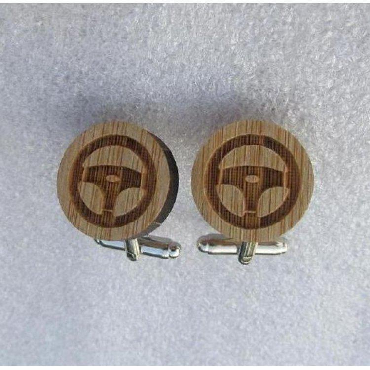 Деревянные Запонки Руль Dzp-0651