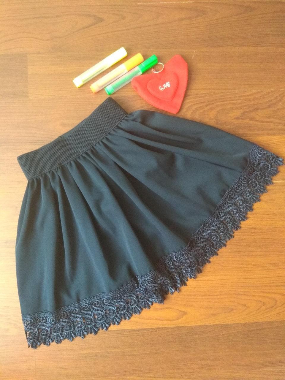 Юбка школьная турецкая ткань тёмно - синяя р. от 122 до 140