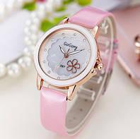 Женские наручные часы с цветочком Daisy pink