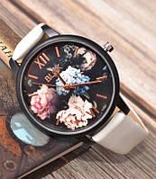 Женские наручные часы с цветами Melov white