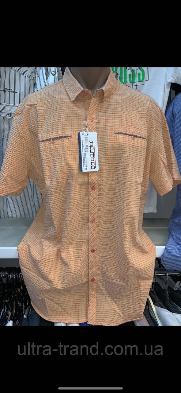 Турецкие летние качественные мужские рубашки из хлопка - жатки