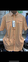 Турецкие летние качественные мужские рубашки из хлопка - жатки, фото 1