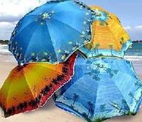 Зонт торговый,пляжный с напылением диаметр 2,4 м-S656