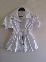 Блузка школьная для девочки, упаковка 5 штук, размеры от 6 до 10 лет