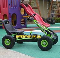 Детский педальный железный карт Bambi M 0645 зеленый Детская машина на педалях, картинг. Велокарт , веломобиль