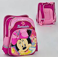 Школьный рюкзак Минни Маус ЗD фуксия с ортопедической спинкой на 2 отделения и 4 кармана