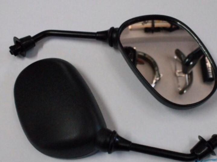 Зеркала чёрные овальные (8 мм)