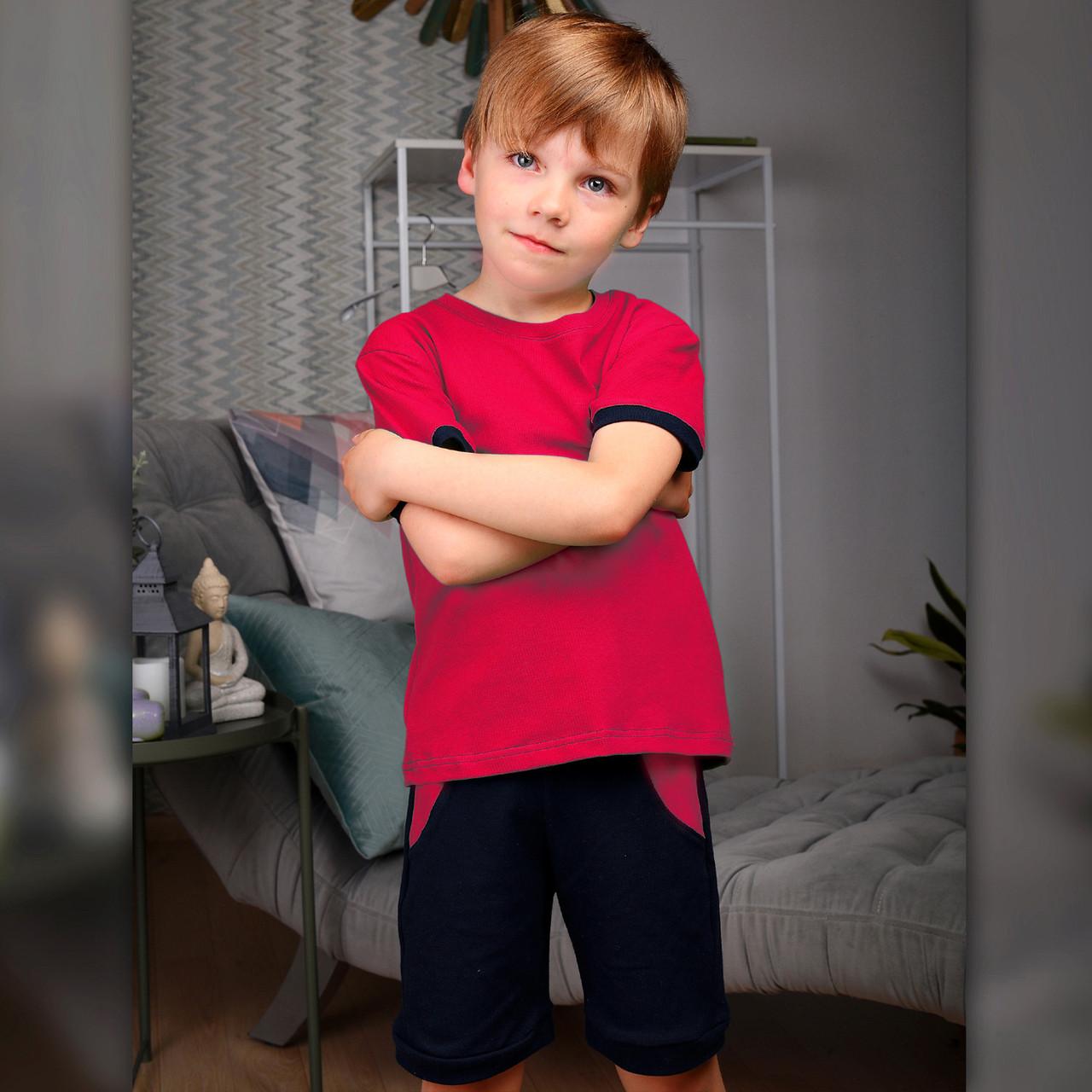 Детский летний костюм для мальчика Красный   Дитячий літній костюм для хлопчика