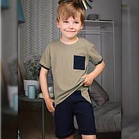 Детский летний костюм для мальчика Оливковый | Дитячий літній костюм для хлопчика