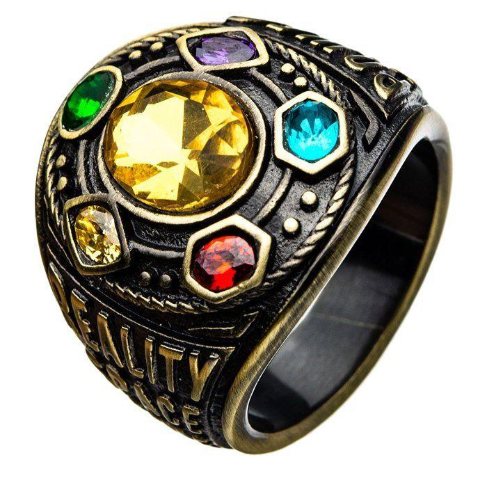 Перстень Таноса SUNROZ Thanos Ring розмір 7 Бронзовий (SUN4821)