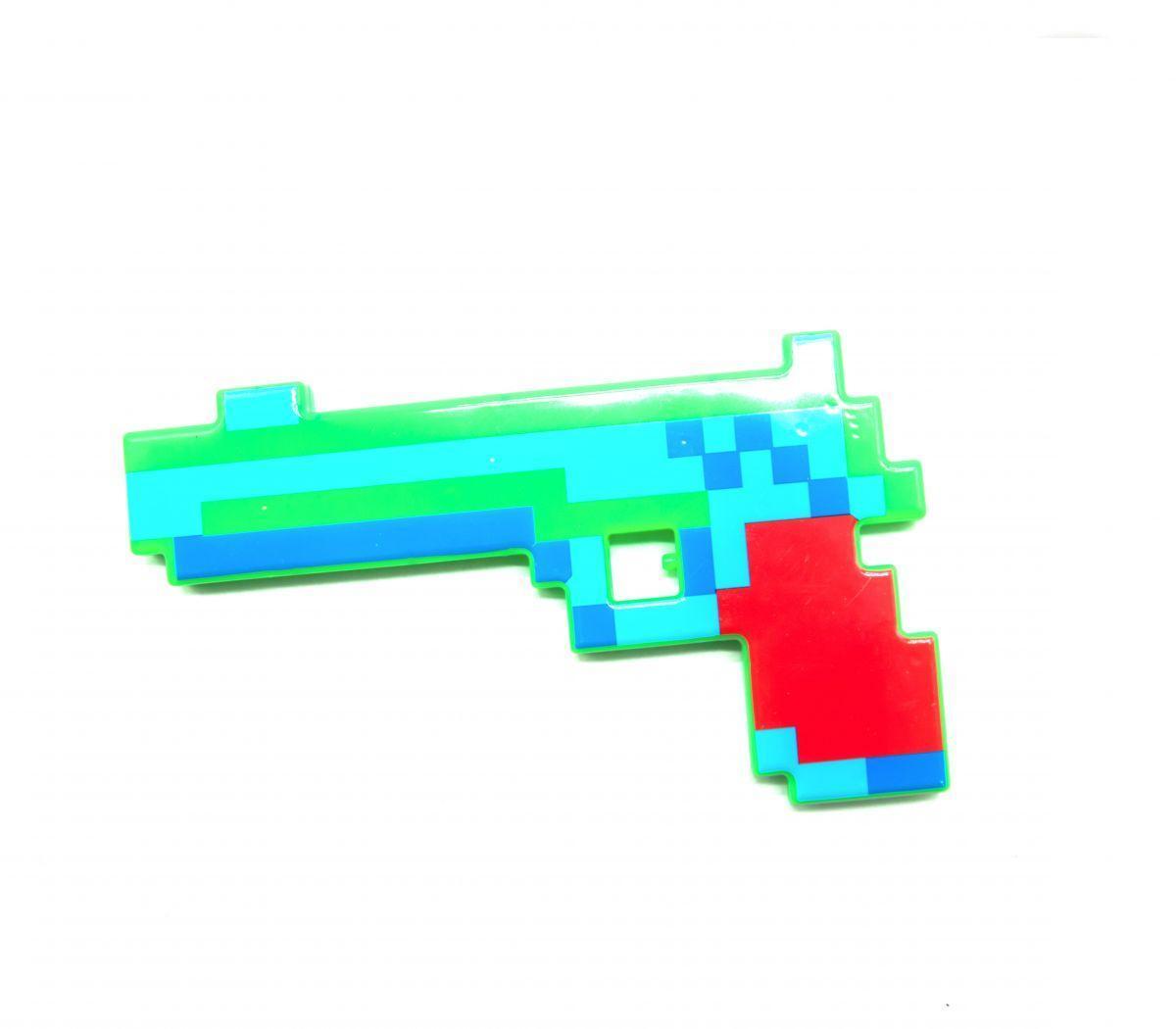 Пистолет музыкальный Майнкрафт (красный)